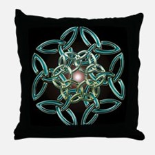 Triquetra Circle Knot Throw Pillow