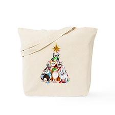 Christmas Tree Kittens Tote Bag