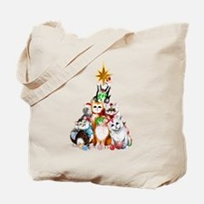 Christmas Tree Kittens Tote Bag