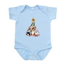 Christmas Tree Kittens Infant Bodysuit