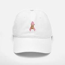 Breast Cancer Ribbon & Bunny Baseball Baseball Cap