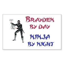 Brayden - Ninja by Night Rectangle Decal