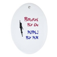 Brayden - Ninja by Night Oval Ornament