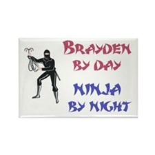 Brayden - Ninja by Night Rectangle Magnet
