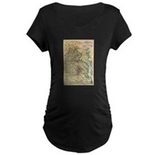 Virginia Civil War Map T-Shirt