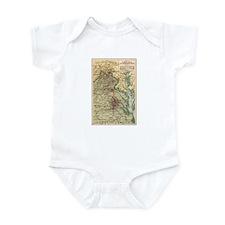Virginia Civil War Map Infant Bodysuit