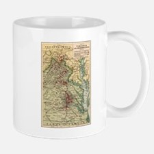 Virginia Civil War Map Mug