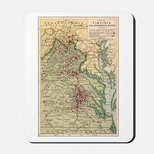 Virginia Civil War Map Mousepad