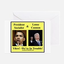 """We're In Trouble"" Greeting Card"