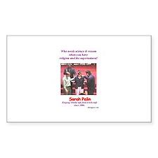 Sarah Palin's exorcism Rectangle Sticker 50 pk)