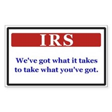 IRS Rectangle Decal
