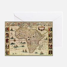 Ancient Africa Map Greeting Card