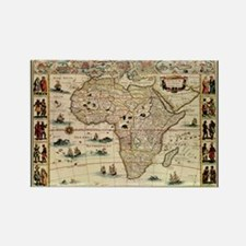 Ancient Africa Map Rectangle Magnet