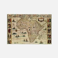 Ancient Africa Map Rectangle Magnet (100 pack)