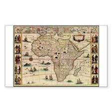 Ancient Africa Map Rectangle Decal