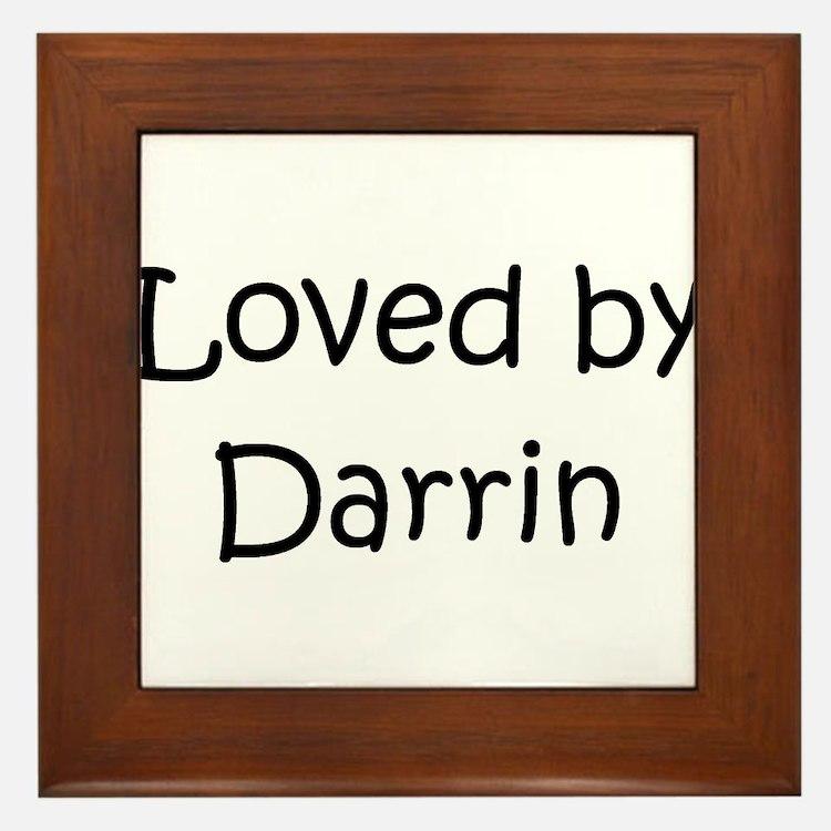 Cute Darrin Framed Tile