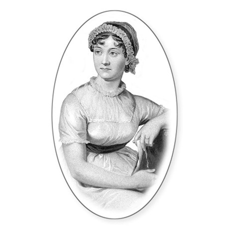 Jane Austen Oval Bumper Sticker