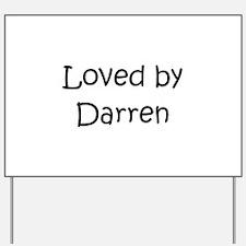 Cute Darren Yard Sign