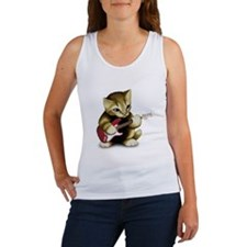 Cat Playing Guitar Women's Tank Top