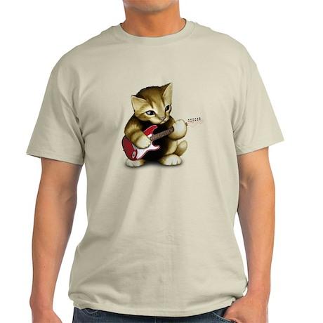 Cat Playing Guitar Light T-Shirt