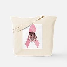 Breast Cancer Ribbon & Bunny Tote Bag