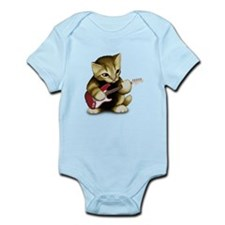 Cat Playing Guitar Infant Bodysuit