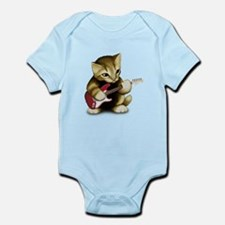Cat Playing Guitar Infant Bodysuit