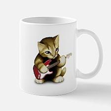 Cat Playing Guitar Mug