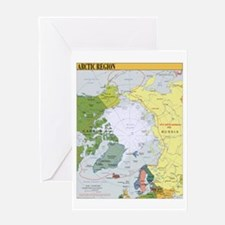 Arctic Polar Map Greeting Card