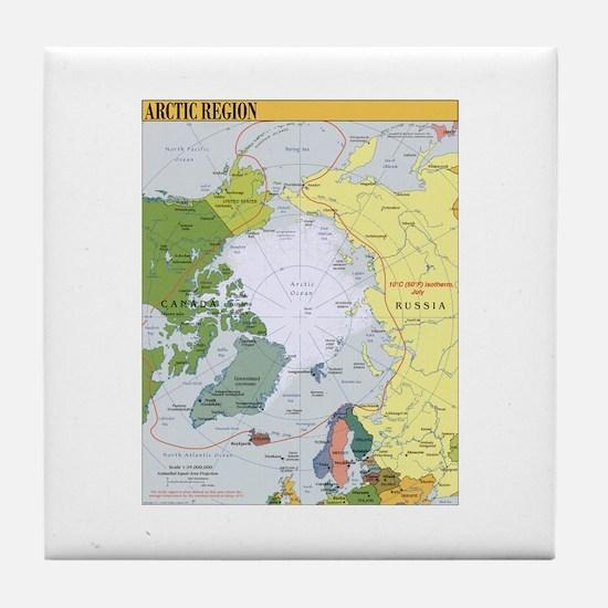 Arctic Polar Map Tile Coaster