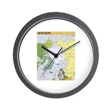 Arctic Polar Map Wall Clock