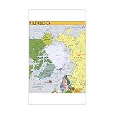 Arctic Polar Map Rectangle Decal