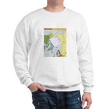 Arctic Polar Map Sweatshirt