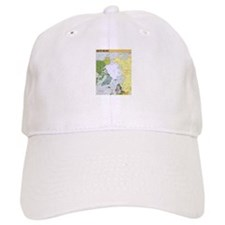 Arctic Polar Map Baseball Baseball Cap