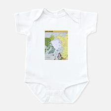 Arctic Polar Map Infant Bodysuit