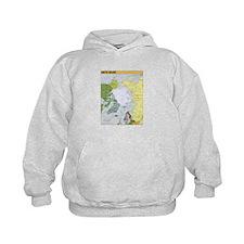 Arctic Polar Map Hoodie