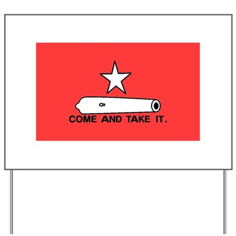 Red Gonzales Flag Yard Sign
