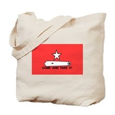 Red Gonzales Flag Tote Bag