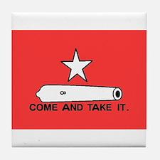 Red Gonzales Flag Tile Coaster