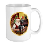 Santa's Lab (blk)#1 Large Mug