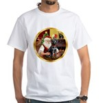 Santa's Lab (blk)#1 White T-Shirt