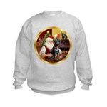 Santa's Lab (blk)#1 Kids Sweatshirt