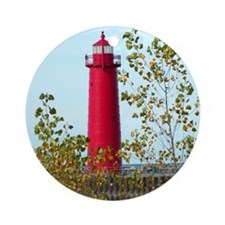Muskegon Lighthouse Ornament (Round)