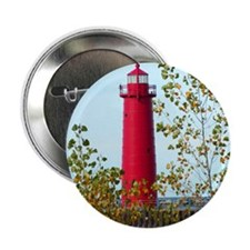 "Muskegon Lighthouse 2.25"" Button"