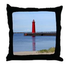 Muskegon Lighthouse Throw Pillow