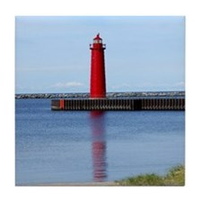 Muskegon Lighthouse Tile Coaster