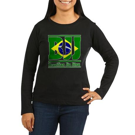 BJJ Brazilian Jiu Jitsu Women's Long Sleeve Dark T