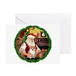 Santa's Pomeranian #1 Greeting Cards (Pk of 10)