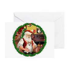 Santa's Pomeranian #1 Greeting Cards (Pk of 20)