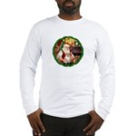 Santa's Pomeranian #1 Long Sleeve T-Shirt